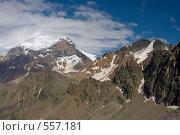 Купить «Панорама Кавказа, вид на стены Эльбруса и Кукуртли-Колбаши», фото № 557181, снято 5 августа 2008 г. (c) Vladimir Fedoroff / Фотобанк Лори