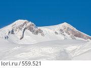 Вершины Эльбруса, вид с запада (2008 год). Редакционное фото, фотограф Vladimir Fedoroff / Фотобанк Лори