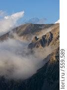 Купить «Горы в облаках, Кавказ», фото № 559589, снято 5 августа 2008 г. (c) Vladimir Fedoroff / Фотобанк Лори