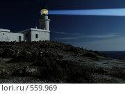 Маяк, освещающий путь ночью. Стоковое фото, фотограф Дмитрий Яковлев / Фотобанк Лори