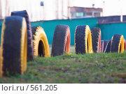 Купить «Автомобильные шины», фото № 561205, снято 13 ноября 2008 г. (c) Сергей Лаврентьев / Фотобанк Лори