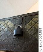 Купить «Старый сундук на замке», фото № 564881, снято 14 октября 2008 г. (c) Илья Телегин / Фотобанк Лори