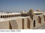 Купить «Минарет и двор самой старой мечети Туниса», фото № 565153, снято 12 августа 2008 г. (c) Nikiandr / Фотобанк Лори