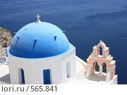 Купить «Греция, остров Санторини. Купол церкви», эксклюзивное фото № 565841, снято 11 августа 2008 г. (c) Яна Королёва / Фотобанк Лори