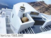 Купить «Греция, остров Санторини, лестница в небо», эксклюзивное фото № 565845, снято 11 августа 2008 г. (c) Яна Королёва / Фотобанк Лори