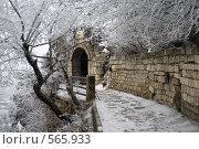 Грот Лермонтова зимой. Стоковое фото, фотограф Михаил Лазаренко / Фотобанк Лори