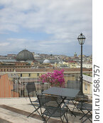 Неаполь, Италия, Вид на город с крыши отеля (2008 год). Стоковое фото, фотограф EVA / Фотобанк Лори