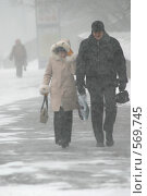 Купить «Москва, метель», эксклюзивное фото № 569745, снято 27 января 2005 г. (c) Дмитрий Неумоин / Фотобанк Лори