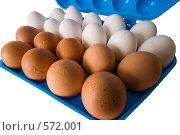 Купить «Яйца куриные в контейнере», фото № 572001, снято 19 ноября 2008 г. (c) Федор Королевский / Фотобанк Лори