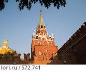 Купить «Кремлевская башня», фото № 572741, снято 21 августа 2007 г. (c) Туркин Вадим / Фотобанк Лори