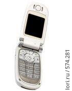 Купить «Сотовый телефон - раскладушка», фото № 574281, снято 18 октября 2008 г. (c) pzAxe / Фотобанк Лори
