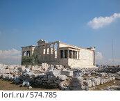 Храм Эрехтейон в Афинском Акрополе. Стоковое фото, фотограф Elena Monakhova / Фотобанк Лори