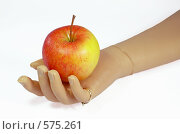 Купить «Протез руки с яблоком», фото № 575261, снято 9 ноября 2008 г. (c) Даша Богословская / Фотобанк Лори
