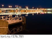 Купить «Благовещенский мост через Неву. Санкт-Петербург», эксклюзивное фото № 576781, снято 21 ноября 2008 г. (c) Александр Алексеев / Фотобанк Лори
