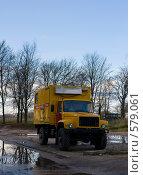 Купить «Желтый грузовик», фото № 579061, снято 24 октября 2008 г. (c) Максим Солдатов / Фотобанк Лори