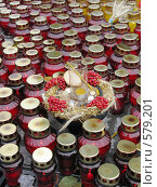 Купить «Горящие свечки в память жертв Голодомора», фото № 579201, снято 23 ноября 2008 г. (c) Олеся Сарычева / Фотобанк Лори