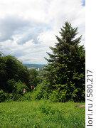 Купить «Нальчик. Подвесная канатно-кресельная дорога на горе Кизиловка», фото № 580217, снято 22 июня 2008 г. (c) Александр Тараканов / Фотобанк Лори