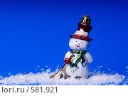 Купить «Елочная игрушка снеговик», эксклюзивное фото № 581921, снято 26 января 2006 г. (c) Сайганов Александр / Фотобанк Лори