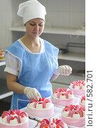 Купить «Цех по выпуску тортов», эксклюзивное фото № 582701, снято 3 мая 2006 г. (c) Дмитрий Неумоин / Фотобанк Лори