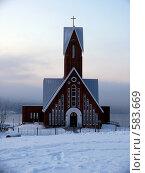 Купить «Храм в Первомайском округе города Мурманск», фото № 583669, снято 22 ноября 2008 г. (c) Иван Мацкевич / Фотобанк Лори