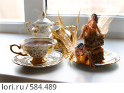 Купить «Девушки-эльфы и ритуал утреннего чаепития», иллюстрация № 584489 (c) Лисовская Наталья / Фотобанк Лори