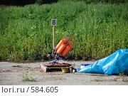 Купить «Стендовая стрельба. Метательная машина», фото № 584605, снято 12 июля 2007 г. (c) Татьяна Дигурян / Фотобанк Лори
