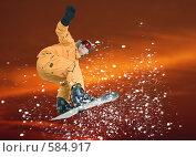Купить «Сноубордист в оранжевом комбинезоне», фото № 584917, снято 20 января 2008 г. (c) Лисовская Наталья / Фотобанк Лори