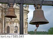 Купить «Колокола на фоне храма», эксклюзивное фото № 585041, снято 30 июня 2008 г. (c) Яна Королёва / Фотобанк Лори