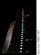 """Купить «Вид на здания """"Северное сияние"""", г.Астана, ночной пейзаж», фото № 585141, снято 18 ноября 2008 г. (c) Камбулина Татьяна / Фотобанк Лори"""