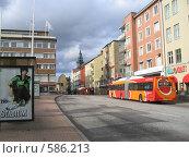 Улица в шведском городе Линчепинг (2005 год). Редакционное фото, фотограф Anna Marklund / Фотобанк Лори