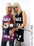 Купить «Две блондинки», фото № 587965, снято 21 октября 2008 г. (c) Михаил Мандрыгин / Фотобанк Лори