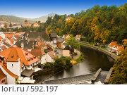 Купить «Чешский Крумлов. Чехия», фото № 592197, снято 3 октября 2008 г. (c) Бутенко Андрей / Фотобанк Лори