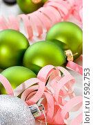 Купить «Новогодние украшения», фото № 592753, снято 26 ноября 2008 г. (c) Кравецкий Геннадий / Фотобанк Лори