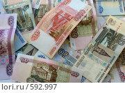 Фон из денежных знаков. Стоковое фото, фотограф Александр Тараканов / Фотобанк Лори