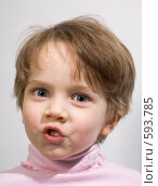 Забавная маленькая девочка. Стоковое фото, фотограф Ольга Киселева / Фотобанк Лори