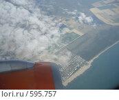 Вид с самолёта. Стоковое фото, фотограф анюта романова / Фотобанк Лори