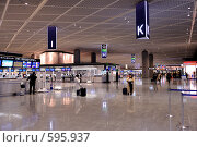 Купить «Стойки регистрации, аэропорт Нарита. Токио, Япония.», фото № 595937, снято 28 ноября 2008 г. (c) Алексей Еманов / Фотобанк Лори