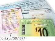 Купить «Документы автомобилиста», фото № 597677, снято 19 ноября 2008 г. (c) Дмитрий Яковлев / Фотобанк Лори