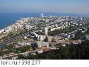 Купить «Вид Хайфы сверху», фото № 598277, снято 29 ноября 2008 г. (c) Zlataya / Фотобанк Лори