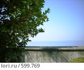 Купить «Рамка: море, парапет, небо», фото № 599769, снято 26 июля 2007 г. (c) Галина Гуреева / Фотобанк Лори