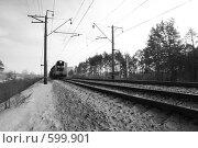 Купить «Железная дорога. Тепловоз», фото № 599901, снято 19 января 2008 г. (c) Александр Тараканов / Фотобанк Лори