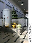 Купить «Машинный зал Лесогорской ГЭС (Ленинградская область)», фото № 600621, снято 17 мая 2007 г. (c) Александр Секретарев / Фотобанк Лори