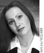 Купить «Портрет девушки, ч/б», фото № 612689, снято 2 января 2004 г. (c) Татьяна Баранова / Фотобанк Лори