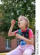 Купить «Мыльные пузыри», фото № 614045, снято 7 сентября 2008 г. (c) Татьяна / Фотобанк Лори