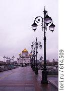 Купить «Ранняя зима в Москве. Храм Христа Спасителя», фото № 614509, снято 7 декабря 2008 г. (c) E. O. / Фотобанк Лори