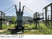 Купить «Трансформаторная подстанция Северной ТЭЦ-21. Санкт-Петербург», фото № 617237, снято 21 мая 2007 г. (c) Александр Секретарев / Фотобанк Лори