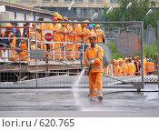 Купить «Рабочие-строители», эксклюзивное фото № 620765, снято 16 июня 2008 г. (c) lana1501 / Фотобанк Лори