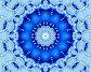 Синяя снежинка, иллюстрация № 622177 (c) Parmenov Pavel / Фотобанк Лори