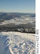 """Купить «Вид на город Шерегеш с горы """"Зелёная""""», фото № 627405, снято 21 декабря 2008 г. (c) Андрей Жарков / Фотобанк Лори"""