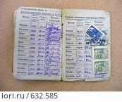 Комсомольский билет. Редакционная иллюстрация, иллюстратор Sandra-Lucia / Фотобанк Лори